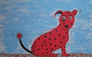 Little red dog